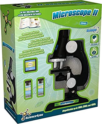 Science4You Microscope II Kit Educational Science Toy STEM Toy