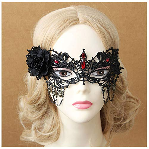 Maske YN Sexy Lace Goggles Erwachsene Dame Fox Halbe Gesichtsmaske Horror Gesicht Party Ball Puppe Kos