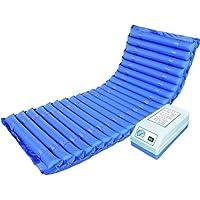 Colchón hinchable con cojín de aire médico antiácaros para evitar el dolor y evitar el dolor en la cama, 200 x 86 cm, color azul
