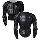 Veste Armure Moto Blouson Motard Gilet Protection Équipement de Moto Cross Scooter VTT Enduro Homme ou Femme (Noir, S)