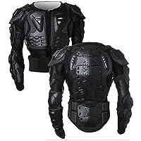 Giacca da Moto Protezione di Motocross Giacca Moto Indumenti di Protezione Corpo Armatura Completa Moto Professionale Sportivo per gli uomini Spina Dorsale Cassa Spalla Nero M