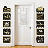 Große Happy Birthday Zeichen Ausschnitte Banner Geburtstag Jubiläum Dekoration Party Lieferung Türschild Geburtstag Thema Party Wand Dekoration Zeichen 10 Zählt (50 Jahre)