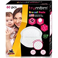 Trumom Super Absorbent Anti-Bacterial Honeycomb Disposable Maternity Nursing Breast Pads with Leak Guards -Pack of 60