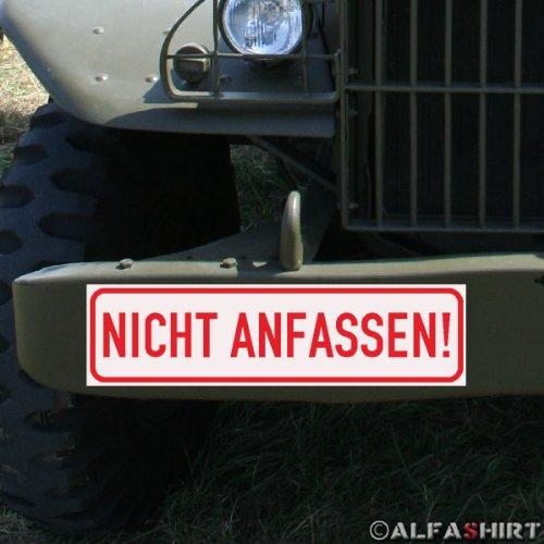 Copytec Magnetschild/Magnet Schild - Nicht Anfassen/für Oldtimer Ausstellung - KFZ Fahrzeuge #A289