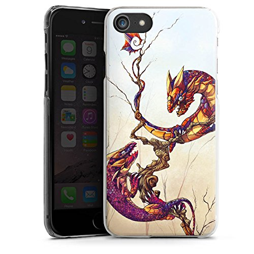 Apple iPhone X Silikon Hülle Case Schutzhülle Drachen Fabelwesen Traumwelt Hard Case transparent