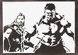 Hulk Y Thor Los Vengadores Hecho A Mano - Handmade Street Art Poster