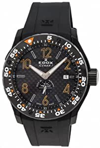 LIMITED EDITION Edox Class-1 Iceman Automatic Black PVD Ceramic Mens Diver Watch 96001-37NO-NIO