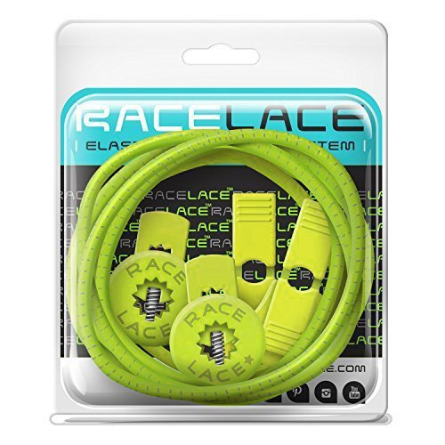 No Label Race Lace - Elastische Sport Schnürsenkel Mit Schnellverschluss + Schnellschnürsystem | Komfort, Halt + Zeit Sparen mit Profischnürsenkel für Sportschuhe | Ideal Für Kinder & Erwachsene Gelb (Keen Schuhe Gelb)
