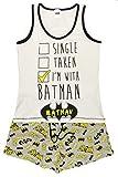 Damen Pyjama-Set, 100% Baumwolle, kurzärmelig, Rundhalsausschnitt, 2-teilig, Verschiedene Cartoon-Charaktere Gr. 42, Batgirl Shortie