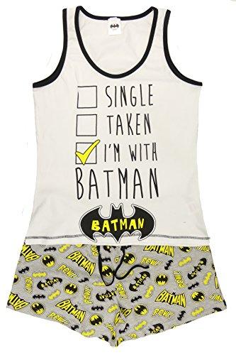 Damen Pyjama-Set, 100% Baumwolle, kurzärmelig, Rundhalsausschnitt, 2-teilig, Verschiedene -