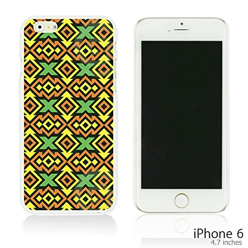 OBiDi - National Paintings Hardback Case / Housse pour Apple iPhone 6 / 6S (4.7 inch)Smartphone - Black Hunter Yellow Tribal Pattern