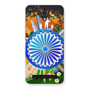 Abstract India Back Case Cover for Zenfone Go