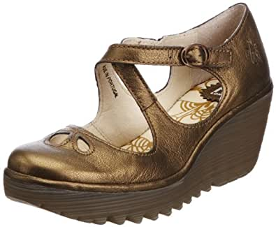 Fly London Women's Yate Bronze Wedges Heels P500275025 3 UK