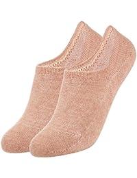 VBIGER Calcetines Invisibles Mujer De Algodón Calcetines Cortos Con Silicona Antideslizante