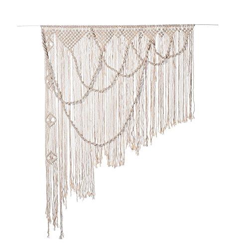 Cortina divisoria de tela tejida en Macramé estilo Boho