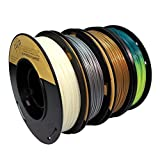 PLA 1.75mm 4x250g Gold/Silver/Glow in Dark/Temperature Change - Filament Set for 3D Printer - C12 Negative