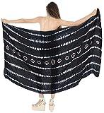 LA LEELA para Mujer Pareo Pareo Tie Dye Falda Encubrir Envoltura Traje de baño de la Playa del...