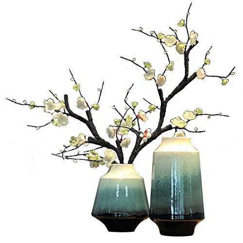 DHASJ Jingdezhen - Jarrón de cerámica para salón o Vino, decoración del hogar, High Bottle + Vial + White Plum 2