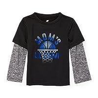 The Children's Place Baby Boys' Long Sleeve Fashion T-Shirt, Black 87413, 5T