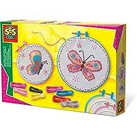 SES Creative 14658 kit de manualidades para niños - Kits de manualidades para niños (Kid de costura para niños, Aguja de coser, Lana, Chica, Colores surtidos, Caja)