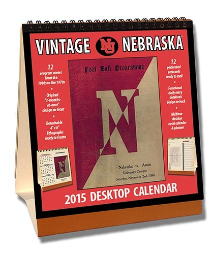 Nebraska Cornhuskers 2015 Easel Desktop Vintage Football Calendar by Asgard Press (2014-09-15) - Desktop-kalender-easel