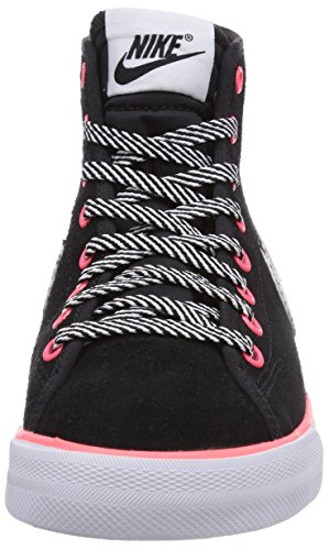 Nike Primo Court Mid Suede 685554 Mädchen High-Top Sneaker Schwarz (Black/White-Hyper Punch)