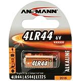 ANSMANN Alkaline Batterie 4LR44 (6V) V04034, A544, 28A Univeral-Zelle für Taschenrechner, Garagentoröffner, Alarmanlage, Funkauslöser für Kamera, Messgeräte, Klingel usw.