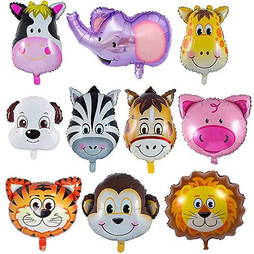 - Tier (LAKIND Folienballon Tiere 10-Pack Tierballons Tier Ballons Luftballons Kindergeburtstag - Helium ist Erlaubt, Perfekt für Kinder Geburtstag Party Dekoration(10-Pack))
