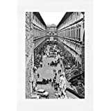 Archivio Foto Locchi Firenze – Stampa Fine Art su passepartout 50x70cm. – Immagine degli Uffizi a Firenze negli anni '50