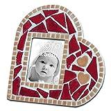 ALEA Mosaic Kit de mosaïque, Cadre Photo, Coeur Rouge, 11x11CM
