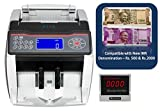 SToK® New Rs.500 & Rs.2000 Notes Counting and detecting fake SToK ST-MC02 Cash / Bill / Currency/ Money / Note Counting Machine with Fake Note Detector & LCD Display with Voice Prompt Feature & Color Changing Display- 1 Year Warranty - Compatible with New Currency - 500 & 2000 denomination