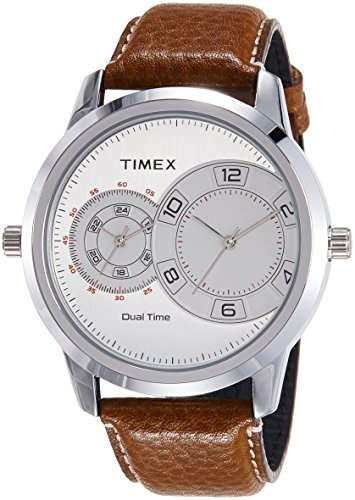 Timex Analog Silver Dial Men's Watch-TWEG15000