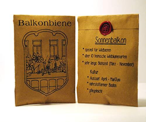 """Balkonbiene""""Sonnenbalkon"""" mit heimischen Wildblumen speziell für Wildbienen"""