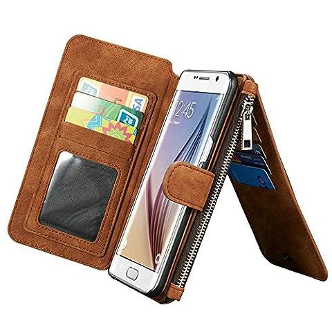 Multi-function Wallet Case Hülle für Samsung Galaxy S6 Edge Plus