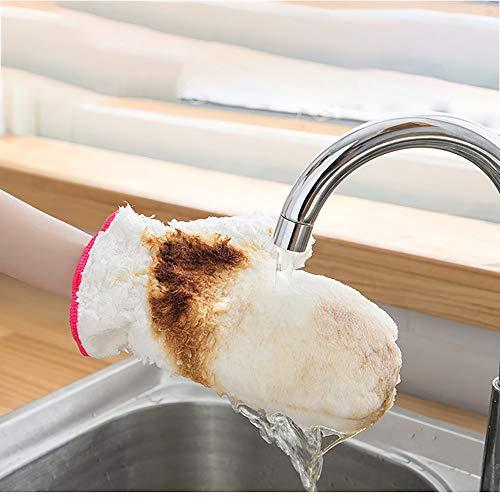 busfaser-Geschirrspülmittel für Wasserdichte und wärmeisolierende Handschuhe Wasserdichte Lappenhandschuh Weiß Antislip Geschirrwaschhandschuh Für Küchenwerkzeug ()