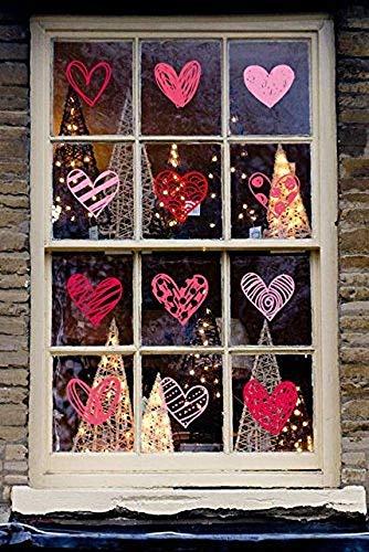 alentine 's Day Fenster klammert Sich an Herz Aufkleber Aufkleber-Party Dekorationen Supplies ()