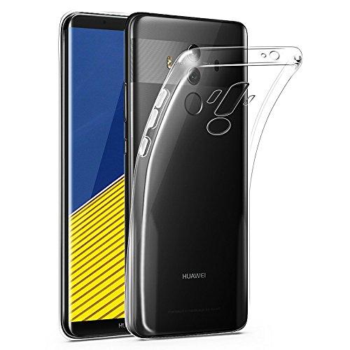 CLM-Tech kompatibel mit Huawei Mate 10 Pro TPU Gummi Hülle, Case transparent durchsichtig, Silikonhülle Crystal Clear