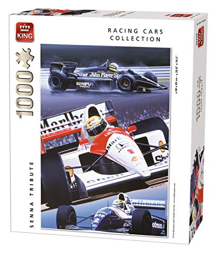 King Racing Cars Collection Senna Tribute 1000 pcs Puzzle - Rompecabezas (Puzzle Rompecabezas, Vehículos, Adultos, Hombre/Mujer, 8 año(s), Cartón)