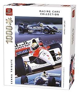 King Racing Cars Collection Senna Tribute 1000 pcs Puzzle - Rompecabezas (Puzzle Rompecabezas, Vehículos, Adultos, Hombre/Mujer, 8 año(s), Cartón)