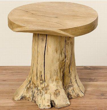 Home Collection Arredamento, decorazione - tavolino basso da salotto, bar, sgabello - Motivo: tronco albero - Stile: rustico - Materiale: legno - Colore: naturale - 40 cm