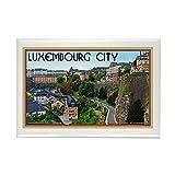 CafePress-Luxemburg-Stadt-Rechteck Magnet, 5,1x