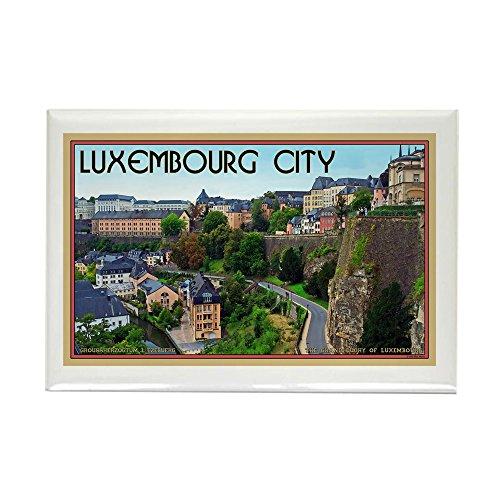 CafePress-Luxemburg-Stadt-Rechteck Magnet, 5,1x 7,6cm Kühlschrank Magnet - Box-metall-rechteckig Kollektion