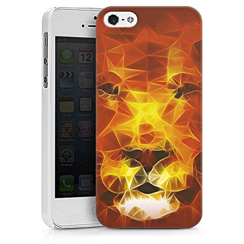 Apple iPhone X Silikon Hülle Case Schutzhülle Burning Lion Löwe Feuer Hard Case weiß