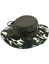 Leisial Sombrero Estampado De Camuflaje del Ejército de ala Ancha Borde  Redondo Anti-UV Algodón ae99622c481