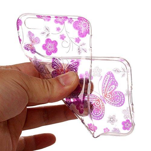 Slynmax Ultra Thin Trasparente TPU Cover per iPhone 6 6S Custodia Silicone Caso Colorato Molle di Morbido Sottile Gel Transparent Bumper Case Protettiva Caso Chiaro Copertura Slim Thin Skin Shell Prot Morbido TPU #12