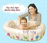 Tiny Tots - Vasca da bagno gonfiabile per bambini, colore: crema