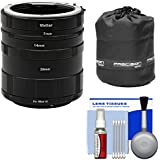 Vivitar Macro Manual Extension Tube Set (for Nikon Cameras) With Lens Pouch & Cleaning Kit