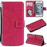 Misteem Etui pour iPhone 5C Fleur de Mandala Coque, Créatif Floral Cover Folio...