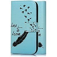 tinxi® Kunstleder Tasche für Huawei Y625 Tasche Schutz Hülle Schale Etui Case Cover Standfunktion mit Karten Slot Feder in blau