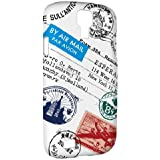 Yeah Creations TS10 Traveler Polycarbonate Case for Samsung Galaxy S4 - Retail Packaging - Postmark (White)